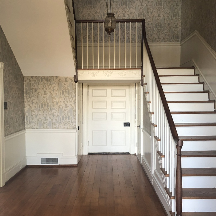 federal home entry staircase in May-Granbery Manor