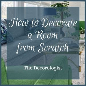 decorate a room from scratch