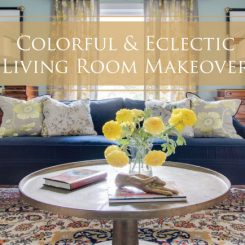 A Colorful & Eclectic Living Room Makeover