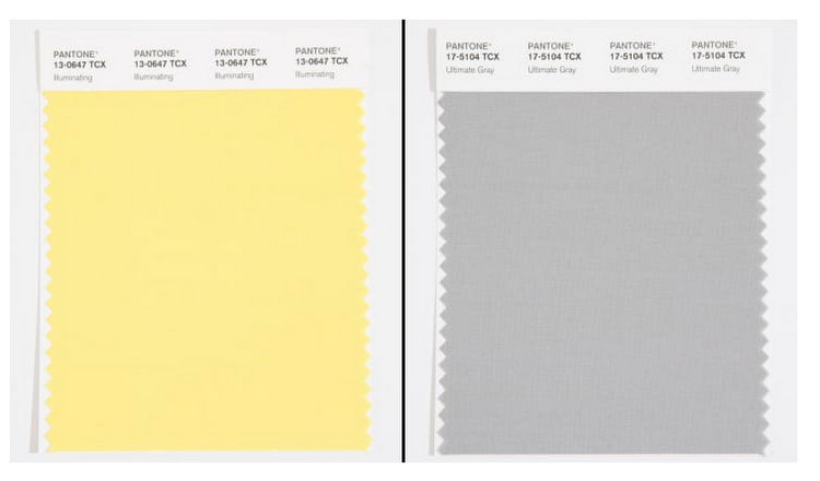 yellow and gray color of the year