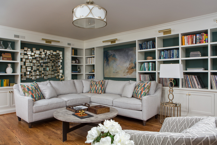 library design by Kristie Barnett, The Decorologist