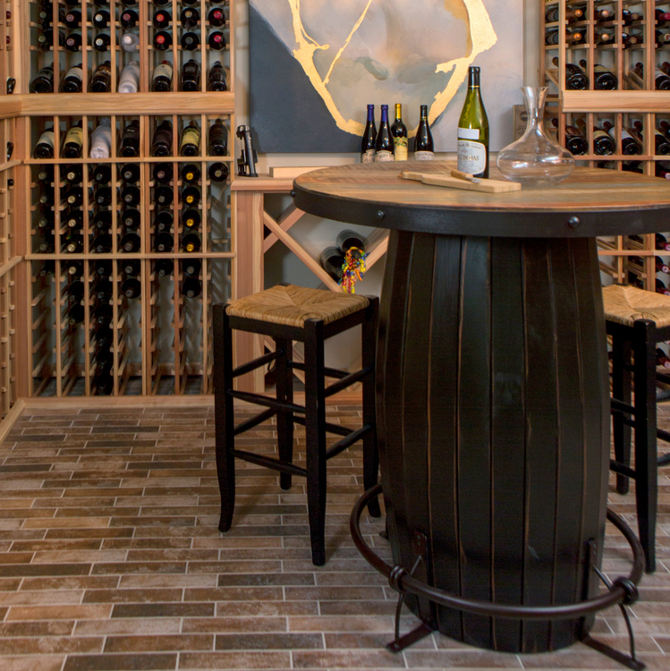 brick floor for wine cellar
