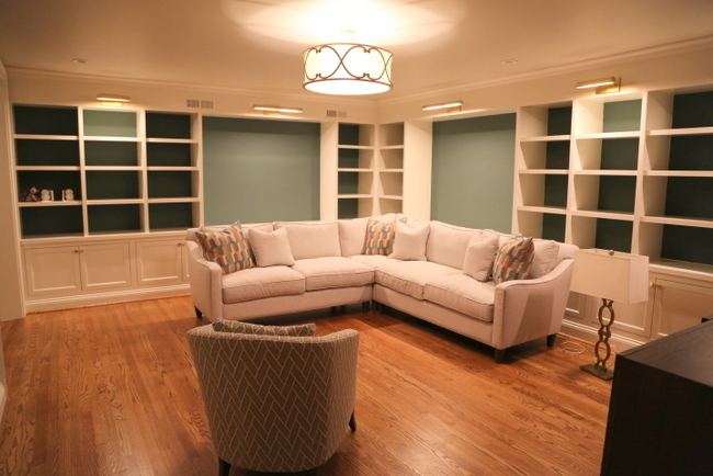 basement library bookcases