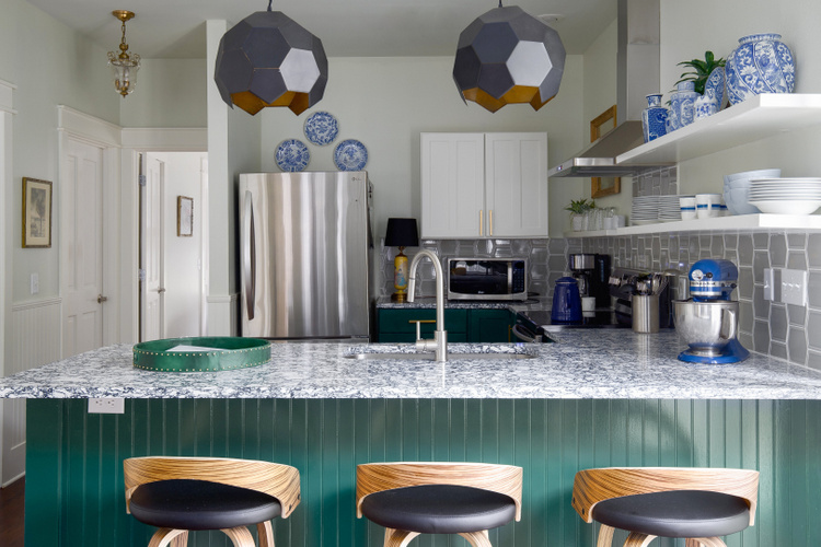 2021 Kitchen Trends + green cabinets + kitchen design by The Decorologist