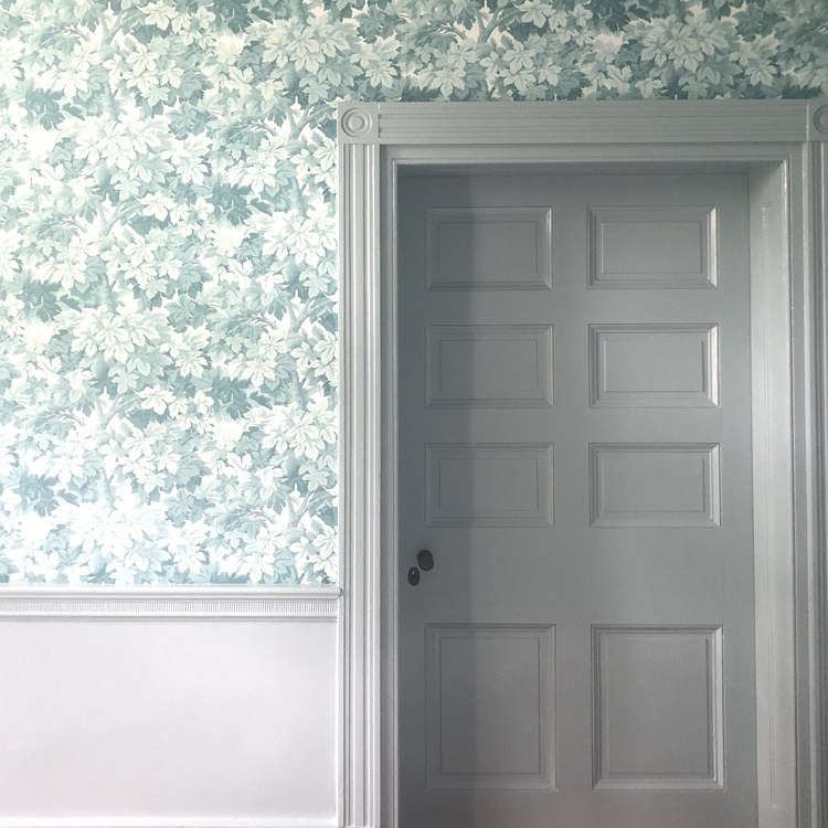 blue leaf wallpaper cole and son
